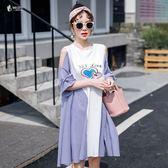 大尺碼 女裝2019夏裝新款遮肚子洋氣微胖mm仙女人心機連身裙 顯瘦減齡