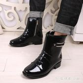 雨靴男 韓國時尚雨鞋男男士雨靴透氣防滑水鞋拉鏈套鞋水靴潮LB936【3C環球數位館】