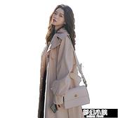 女士風衣秋季新款韓版氣質大衣英倫風休閑過膝長款時尚外套女 新年钜惠