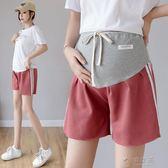孕婦短褲女夏裝孕婦褲夏季運動寬鬆夏裝孕婦打底褲子薄款外穿  俏女孩