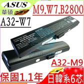 ASUS M9 電池-華碩 電池- M9,M9A,M9F, M9V,M9J,407672-001,A32-M9,A33-M9,405231-001,黑