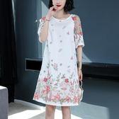 619#018春季新款七分袖寬松大碼中長款連身裙ZL-2F-C10-L衣人有約