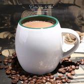 歐式咖啡杯早餐牛奶杯簡約白色馬克杯子奶茶杯陶瓷大容量酒桶水杯【萬聖節88折