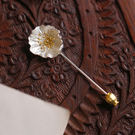 森系文藝立體花朵925純銀胸針/設計家