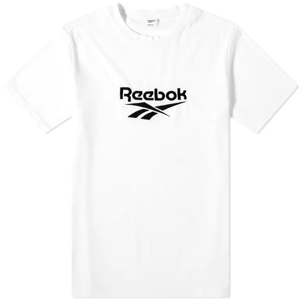 REEBOK 短T CLASSICS VECTOR 白 大LOGO 休閒 短袖 上衣 男 (布魯克林) FK2471