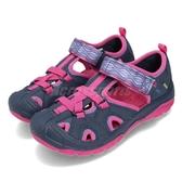 Merrell 戶外鞋 Hydro 運動鞋 越野 登山 藍 粉紅 涼拖鞋 大童鞋 中童鞋 童鞋 女鞋【PUMP306】 MK160858