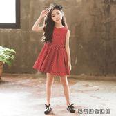連衣裙公主背心裙子洋氣女孩衣服