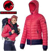 Mammut 長毛象 女 撞色羽絨保暖外套 1010-18510-3360紅色 Kira IS Hooded Jacket