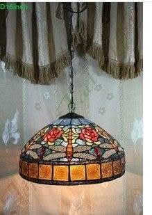 設計師美術精品館吊燈16英寸蒂凡尼歐式吊燈LS16T00005122-LB16C00600I
