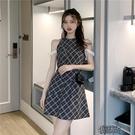 無袖洋裝 洋裝女夏性感氣質2021夏季新款法式復古裙蕾絲拼接漏肩顯【全館免運】