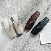 半拖鞋女2020新款懶人方頭平底穆勒韓版大碼包頭百搭外穿女鞋夏 快意購物網