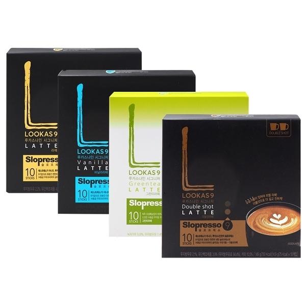 韓國 LOOKAS9 香醇拿鐵/香草拿鐵/抹茶牛奶/雙倍濃郁拿鐵(10入) 款式可選【小三美日】