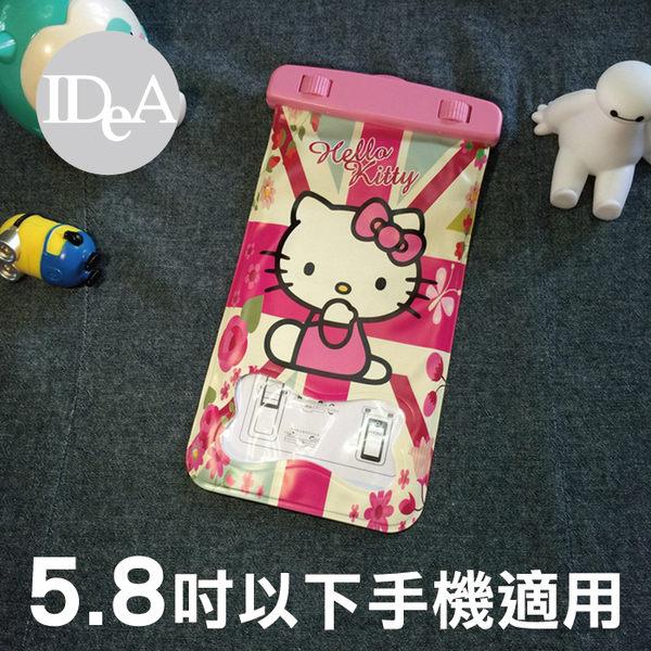 三麗鷗 Hello Kitty 凱蒂貓頸掛式手機觸控防水收納袋 通用5.8吋 保護套 Sanrio 游泳 浮潛 玩水遊戲2