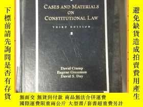 二手書博民逛書店英文書罕見cases and materials on constitutional law 憲法案例與材料Y