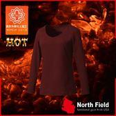 【North Field美國 女 V領遠外線內衣《赤紅》】204R/保暖衣/發熱衣/膠原蛋白/吸濕排汗/親膚