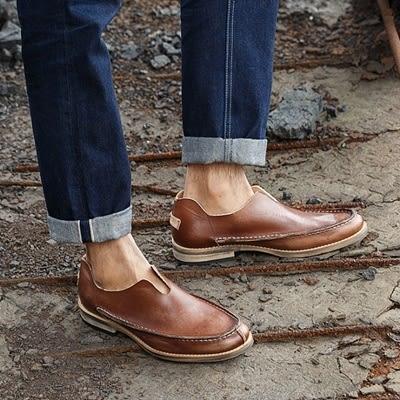 短靴真皮-套腳紳士品味商務休閒男靴子2色73kk51【巴黎精品】