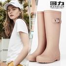長筒雨靴 回力女式雨鞋女士成人時尚防水鞋高筒水靴子雨靴加絨保暖韓國膠鞋