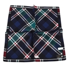 TRUSSARDI拼色斜格紋純綿男士帕巾(藍綠色)989009-139