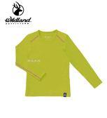 丹大戶外用品 荒野【Wildland】女童輕量鍺纖維親膚保暖衣 型號 0A62669-40 芥末黃