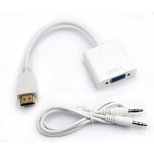 【中將3C】HDMI轉VGA 轉接器 含音源輸出   .CN-HDMI010