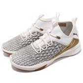 Puma 慢跑鞋 Mantra FUSEFIT Desert 米白 金 襪套式 運動鞋 舒適緩震大底 男鞋【PUMP306】 19157602