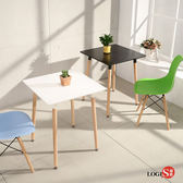 LOGIS邏爵- 自然簡約北歐寬60cm方形桌/ 方桌/ 工作桌/ 書桌/ 休閒桌 T6060W 白 T6060B黑