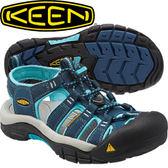 【KEEN 美國 NEWPORT H2 女款 護趾涼鞋〈深藍/粉藍〉】1014199/編織涼鞋/涼鞋/休閒涼鞋★滿額送