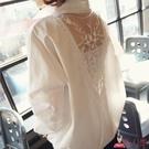 襯衫 白色雪紡長袖女春上衣2020新款韓版寬鬆大碼胖mm200斤超仙V領【8折搶購】