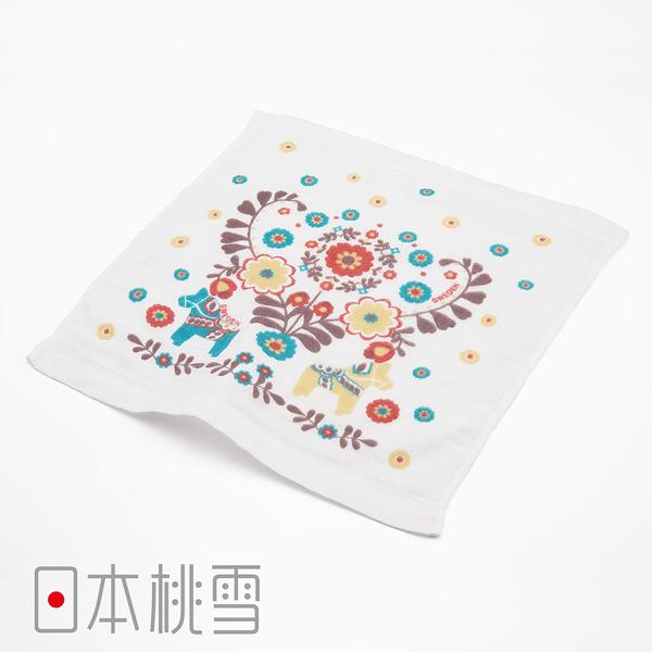 日本桃雪可愛紗布方巾(浪漫世界旅-斯德哥爾摩) 鈴木太太