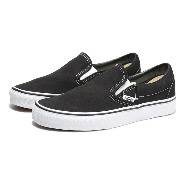 VANS 休閒鞋SLIP-ON 黑白 懶人鞋 延續款 男女 (布魯克林) VN000EYEBLK