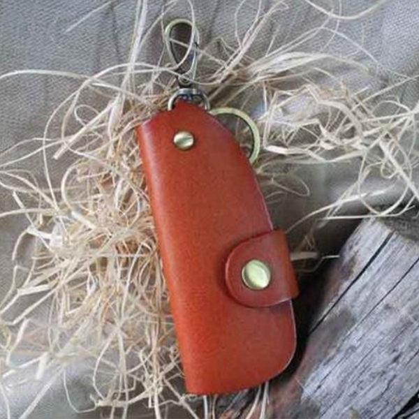 【Solomon 原創設計皮件】真皮手工牛皮 車匙包 車鑰匙 鑰匙包 手工皮革