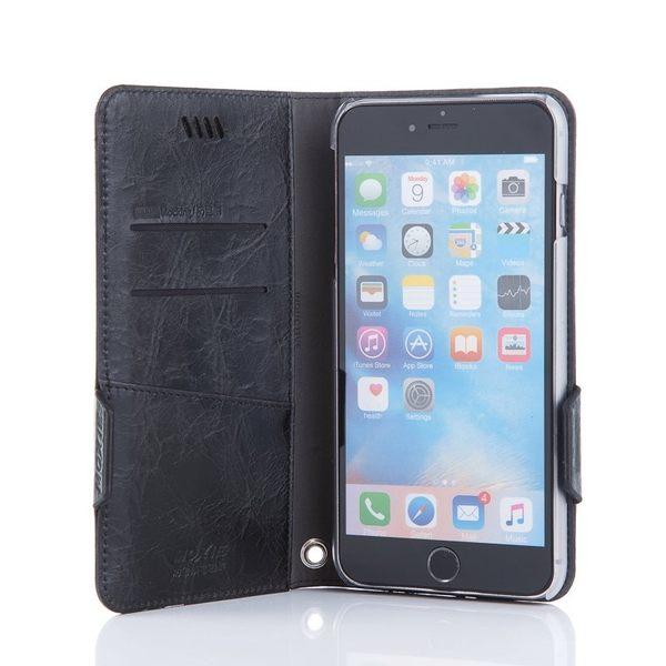 X-SHELL IPHONE 6 plus/6s plus 防電磁波真皮手機皮套 (仿古蠟皮 黑色)