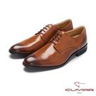 CUMAR核心氣墊 MIT真皮紳士鞋-棕