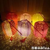 孔明燈 中秋節兒童手提發光舞蹈裝飾漢服拍攝道具古風花燈冬瓜鏤空紙燈籠 芭蕾朵朵