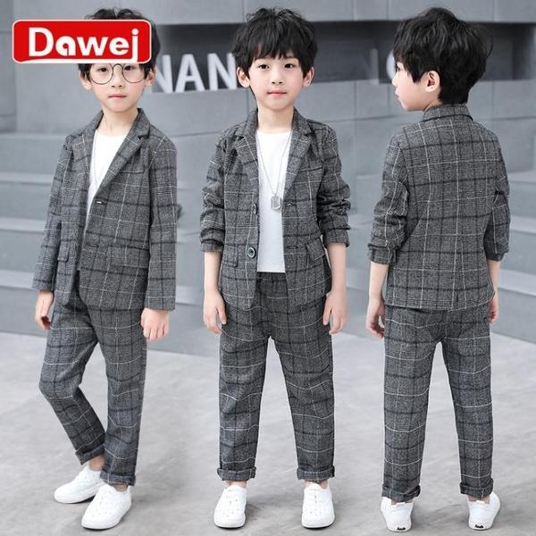男童西裝套裝英倫新款韓版洋氣兒童休閒西服外套帥氣中大童潮
