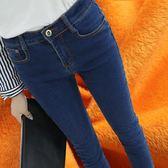 加絨牛仔褲女冬季加厚保暖褲韓版顯瘦高腰彈力大碼小腳鉛筆長褲子 SDN-0435