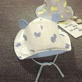 夏季遮陽帽男女兒童春秋太陽帽盆帽嬰兒漁夫帽棉質寶寶帽子1-2歲【快速出貨八折一天】