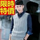 男款針織 背心 典型韓版-歐風魅力復古V領男上衣4色61d9【巴黎精品】