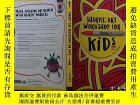 二手書博民逛書店水彩彩繪美術罕見Sharpie art workshop for
