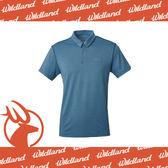 【Wildland 荒野 男 雙色POLO抗UV排汗上衣《藍灰》】0A61652-51/吸濕排汗/抗UV/POLO衫/短袖★滿額送
