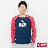 CHUMS 日本 男 L/S 吸濕快排 運動長袖T恤 TransDRY 深藍 CH011174N001