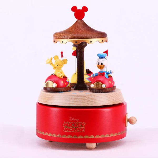 迪士尼系列金飾-碰碰車音樂盒-黃金米奇款