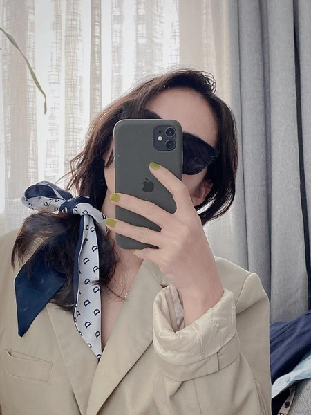 絲巾法式發帶女薄長條綁包絲帶百搭韓國領巾頭巾裝飾圍巾【貼身日記】