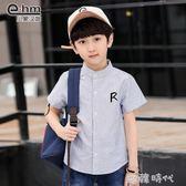 童裝男童夏天短袖襯衫兒童純棉襯衣夏裝新款中大童  ⊱歐韓時代⊰