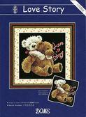 手工藝.DIY十字繡材料包 小熊熊的愛情故事(珍愛系列6)110306 .DIY刺繡&繡花&DIY抱枕圖案