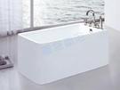 【麗室衛浴】BATHTUB WORLD  造型壓克力獨立缸 LS-1090C 150*78*58cm