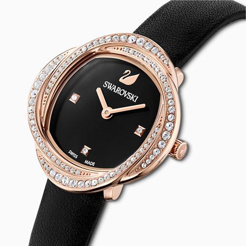 SWAROVSKI施華洛世奇 CRYSTAL FLOWER 永恆之花時尚腕錶 5552421