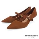 TF851809 巴西進口 文藝復古風格壓紋牛皮 呼應著瑪莉珍鞋的經典風情 尖楦不擠腳大底彈性好好穿