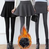 假兩件褲裙 假兩件打底褲裙褲女秋冬新款加絨加厚外穿修身顯瘦小腳褲長褲