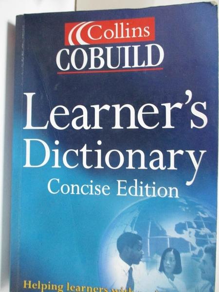 【書寶二手書T7/字典_EMN】Collins Cobuild Learner、s Dictionary_Collins
